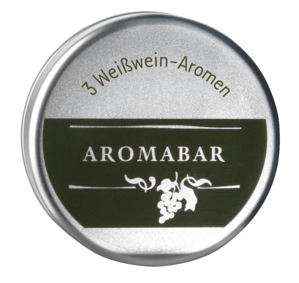 Aromabar Schnupperdose Weißwein mit 3 Duft-Flakons