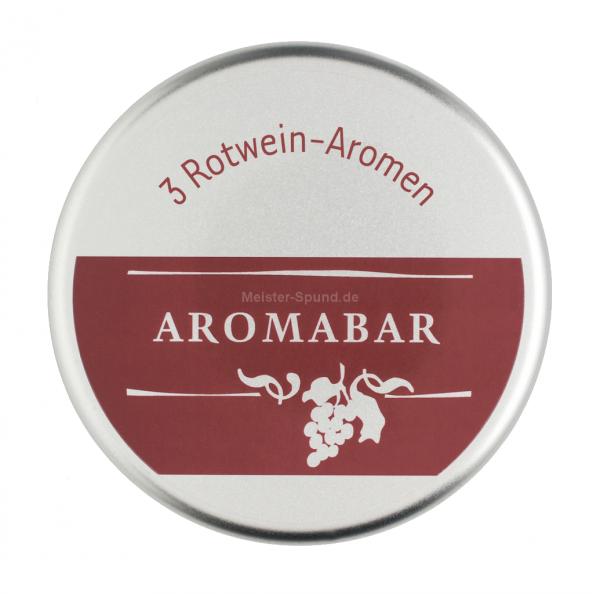 Aromabar Schnupperdose Rotwein mit 3 Duft-Flakons