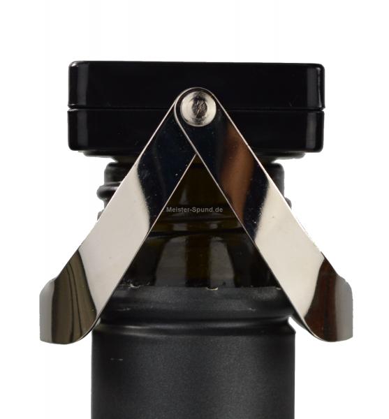 Flaschenverschluss Quadra aus Kunststoff schwarz