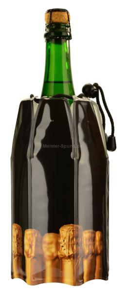 Vacu Vin Kühlmanschette für Champagner und Sekt schwarz