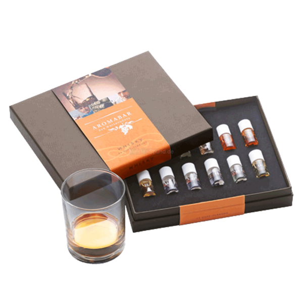 Aromabar Whisky mit 12 Duft-Flakons